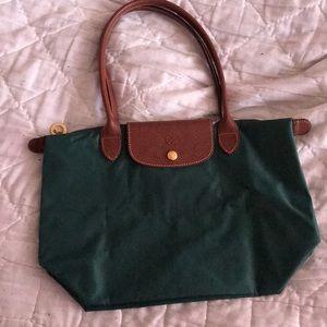 Longchamp le pilage SMALL. Hunter Green bag. New
